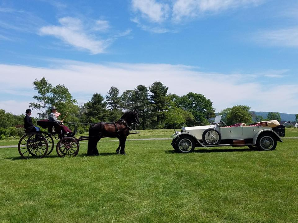 Horsepower meets horse power--2017 Orleton Driving Show. Photo by Marilee Wagner.